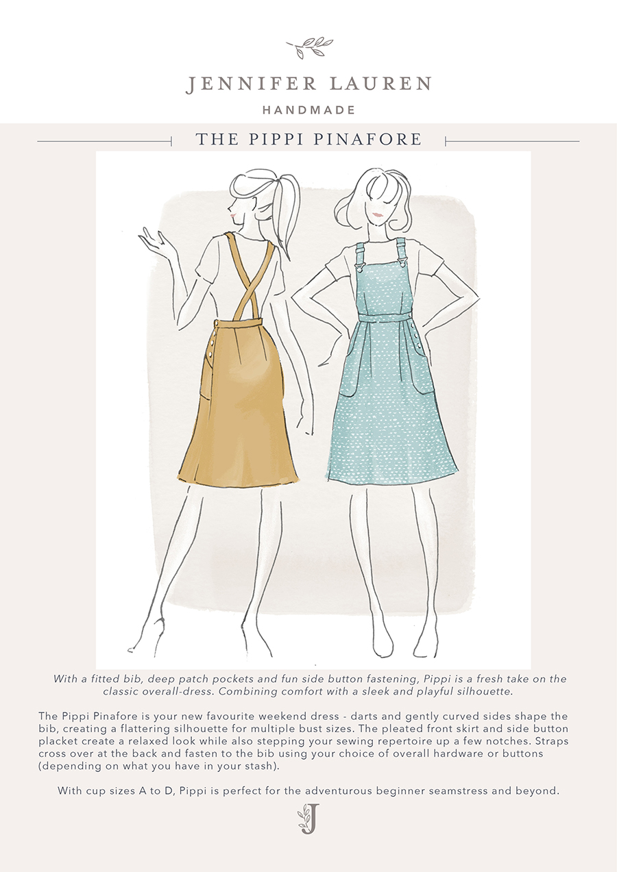 803bc367bdf The Pippi Pinafore – Jennifer Lauren Handmade
